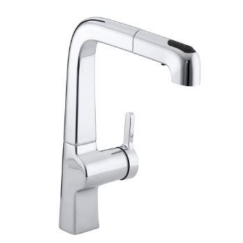 Kohler K-6331-CP Evoke Single Control Pullout Kitchen Faucet - Polished Chrome