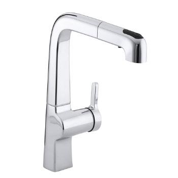 Kohler K-6331-CP Evoke Single Control Pullout Kitchen Faucet - Polished Chrome