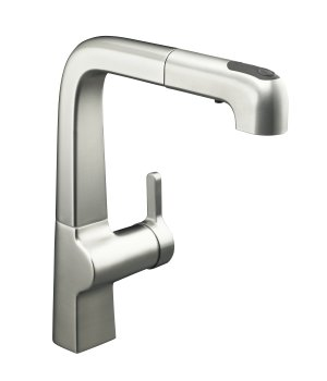 Kohler K-6331-VS Evoke Single Control Pullout Kitchen Faucet - Vibrant Stainless Steel