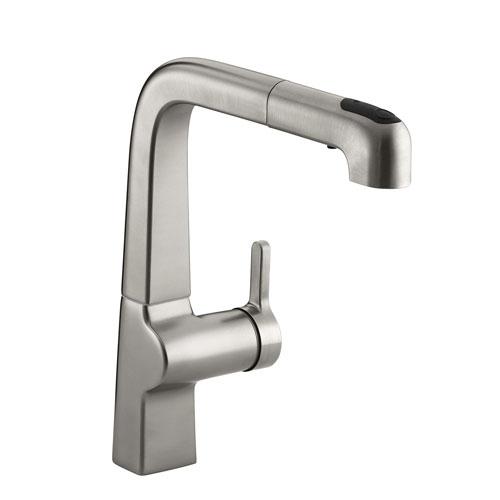 Kohler K 6331 Vs Evoke Single Control Pullout Kitchen Faucet Vibrant Stainless Steel