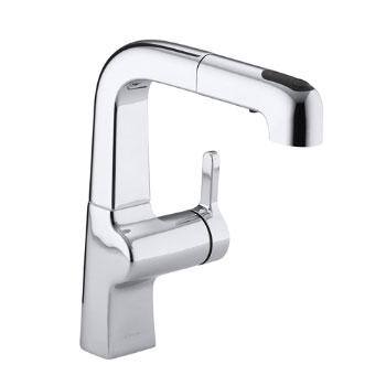 Kohler K-6332-CP Evoke Single Control Pullout Secondary Faucet - Polished Chrome