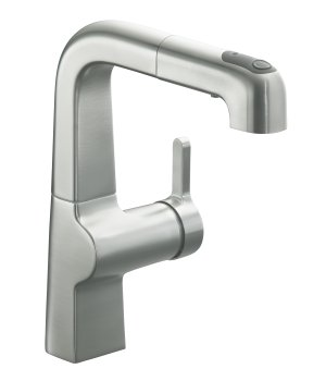 Kohler K-6332-VS Evoke Single Control Pullout Secondary Faucet - Vibrant Stainless Steel