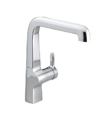 Kohler K-6333-SN Evoke Single Control Kitchen Sink Faucet - Vibrant Satin Nickel (Pictured in Polished Chrome)