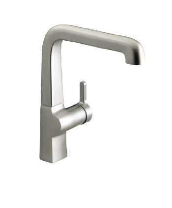 Kohler K-6333-VS Evoke Single Control Faucet - Vibrant Stainless Steel