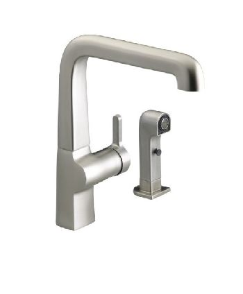 Kohler K-6334-VS Evoke Single Control Faucet w/Sidespray - Vibrant Stainless Steel