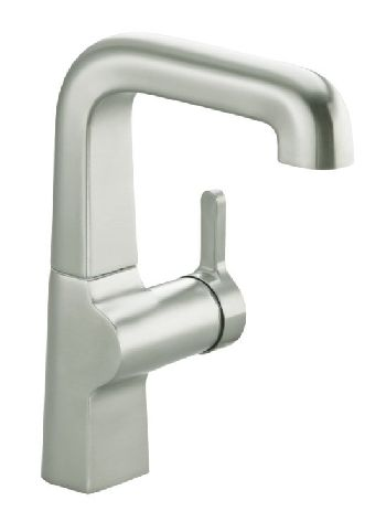 Kohler K-6335-SN Evoke Secondary Single Control Faucet - Vibrant Satin Nickel (Pictured in Vibrant Stainless Steel)