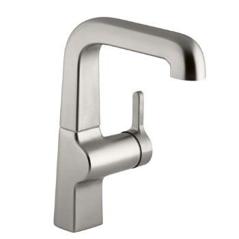 Kohler K-6335-VS Evoke Secondary Single Control Faucet - Vibrant Stainless Steel