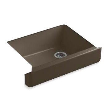 Short Apron Front Sink : ... Apron Front Single Basin Kitchen Sink with Short Apron - Suede