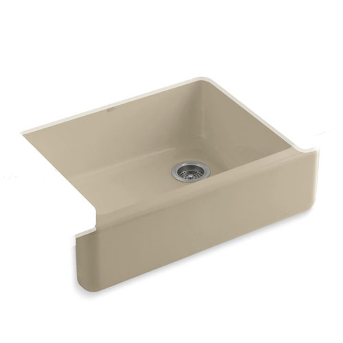 Kohler-K-6487-33-Whitehaven-Self-Trimming-Apron-Front-Single-Basin-Kitchen-Sink-with-Tall-Apron---Mexican-Sand