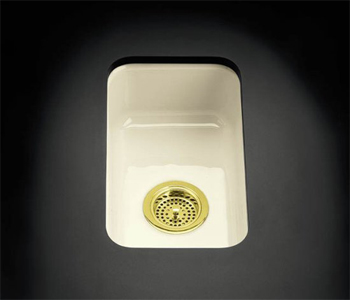 K-6586-KA Kohler Iron/Tones Self-Rimming or Undercounter Kitchen Sink in Black N' Tan (Pictured in Biscuit)