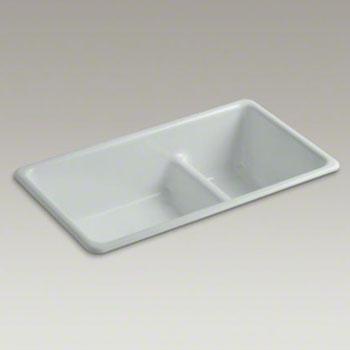 Kohler K 6625 95 Iron Tones Double Bowl Smart Divide Cast