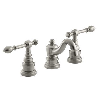 Kohler K-6811-4-BN IV Georges Brass Widespread Lavatory Faucet with Lever Handles - Brushed Nickel