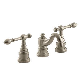 Kohler K-6811-4-BV IV Georges Brass Widespread Lavatory Faucet with Lever Handles - Brushed Bronze