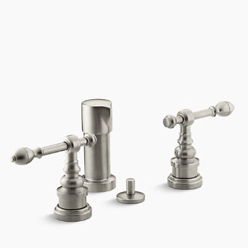 Kohler K-6814-4-BN IV Georges Brass Bidet Faucet with Lever Handles - Brushed Nickel