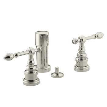 Kohler K-6814-4-SN IV Georges Brass Bidet Faucet with Lever Handles - Satin Nickel