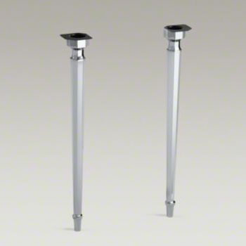 Kohler K 6839 CP Kathryn Octagonal Tapered Brass Table Legs   Chrome