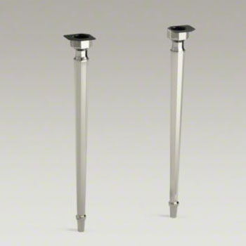 Kohler K-6839-SN Kathryn Octagonal Tapered Brass Table Legs - Polished Nickel