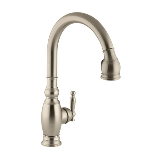 Kohler K 690 Bv Vinnata Pull Down Kitchen Faucet Brushed