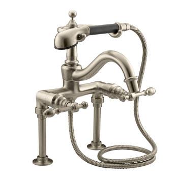 Kohler K-6905-4-BV IV Georges Brass Bath Faucet w/Handshower - Brushed Bronze w/Black Accented Handshower