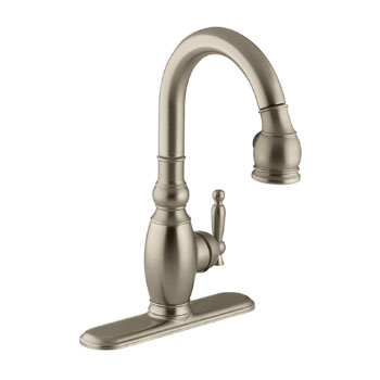 Kohler K-691-BV Vinnata Pull-Down Secondary Kitchen Faucet - Brushed Bronze