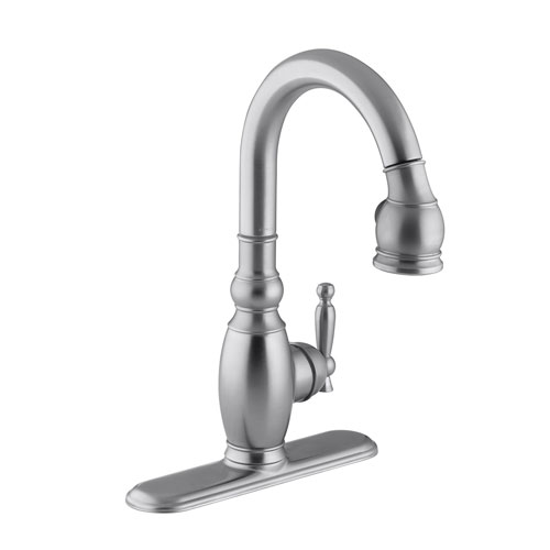 Kohler K-691-G Vinnata Pull-Down Secondary Kitchen Faucet - Brushed Chrome