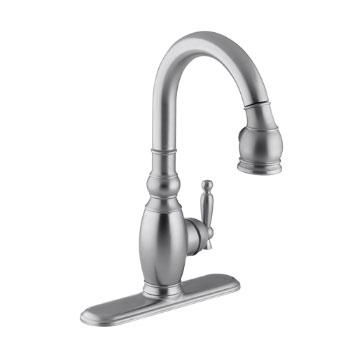 Kohler K-691-G Vinnata Pull-Down Secondary Kitchen Faucet - Brushed Chrome