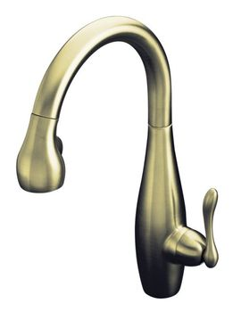 Kohler K-692-BN Clairette Pull-Down Kitchen Faucet - Brushed Nickel