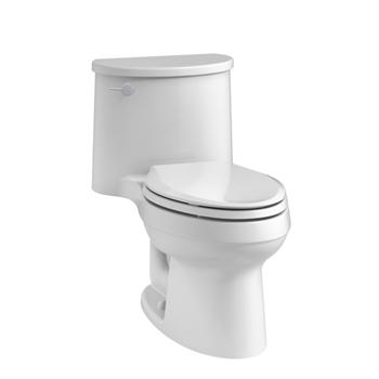 Kohler K 6925 0 Adair One Piece Elongated 1 28 Gpf Toilet