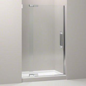 kohler k 705710 l shp pinstripe frameless pivot shower door with 3 8