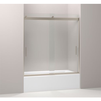 Kohler K-706103-L-ABV Levity Rear Sliding Glass Panel and Assembly Kit for Shower Door K-706003 - Anodized Brushed Bronze