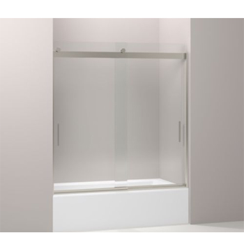 Kohler K-706103-L-NX Levity Rear Sliding Glass Panel and Assembly Kit for Shower Door K-706003 - Brushed Nickel