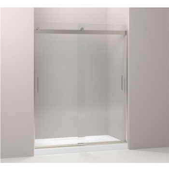 Kohler K-706112-L-NX Levity Rear Sliding Glass Panel and Assembly Kit for Shower Door K-706012 - Brushed Nickel