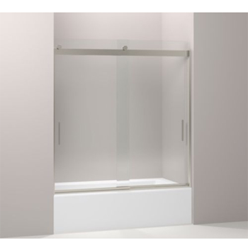 Kohler K-706203-L-NX Levity Front sliding glass panel for shower door K-706003 - Brushed Nickel