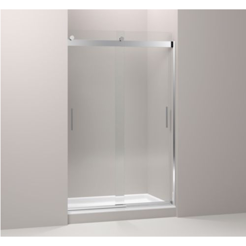 Kohler K-706210-L-SHP Levity Front Sliding Glass Panel and Assembly Kit for Shower Door K-706010 - Polished Silver