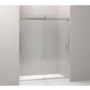 Kohler K-706212-L-NX Levity Front Sliding Glass Panel and Assembly Kit for Shower Door K-706012 - Brushed Nickel