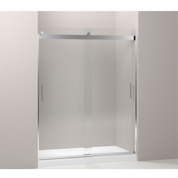 Kohler K-706212-L-SHP Levity Front Sliding Glass Panel and Assembly Kit for Shower Door K-706012 - Polished Silver