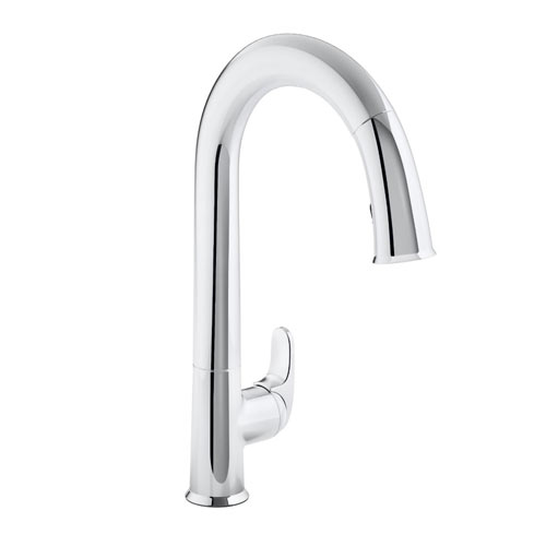 Kohler K-72218-CP Sensate Touchless Pull-down Kitchen Faucet with DockNetik Magnetic Docking System and 3 Function Sprayhead - Chrome