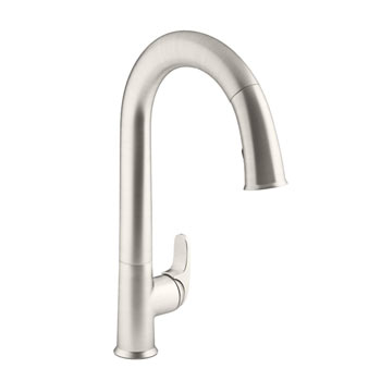 Kohler K-72218-VS Sensate Touchless Pull-down Kitchen Faucet with DockNetik Magnetic Docking System and 3 Function Sprayhead - Vibrant Stainless