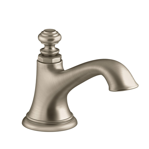 Kohler K-72759-BV Artifacts Widespread Bathroom Sink Spout with Bell Design, Less Handles - Brushed Bronze