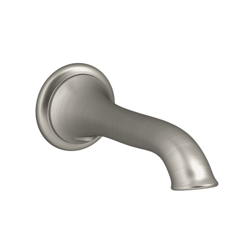 Kohler K-72791-BN Artifacts Wallmount Spout with Flare Design - Brushed Nickel
