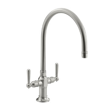 Kohler K-7341-4-BS HiRise Two Handle Faucet - Brushed Stainless