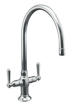 Kohler K-7341-4-S HiRise Two Handle Faucet - Polished Stainless