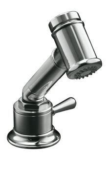 Kohler K-7344-4-S HiRise Sidespray w/Valve - Polished Stainless