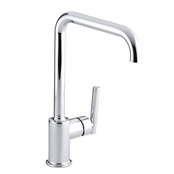 Kohler K-7507-CP Purist Primary Swing Spout Kitchen Faucet without Spray - Chrome
