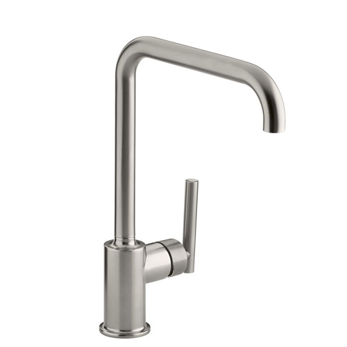 Kohler K-7507-VS Purist Primary Swing Spout Kitchen Faucet without Spray - Vibrant Stainless