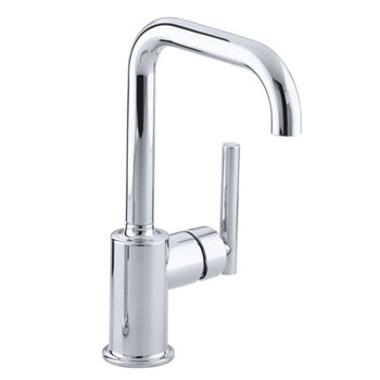 Kohler K 7509 CP Purist Single Hole Kitchen Sink Faucet