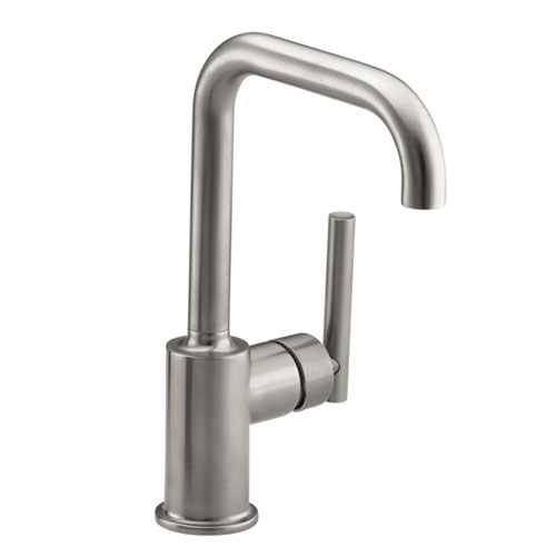 Kohler-K-7509-VS-Purist-Single-Hole-Kitchen-Sink-Faucet-with-6-in-Spout---Vibrant-Stainless