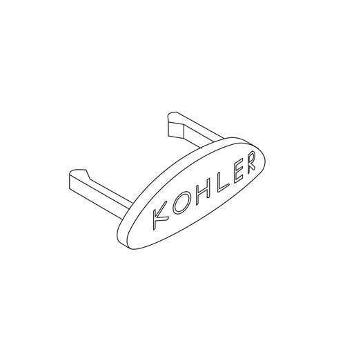 Kohler K-79632-CP Plug Button and Screw Kit - Chrome