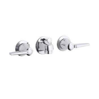 K-8040-4A-CP Kohler Triton Shelf-Back Lavatory Faucet - Chrome