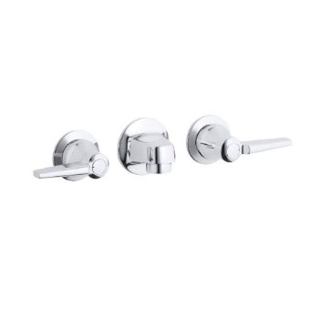 K-8046-4A-CP Kohler Triton Shelf-Back Lavatory Faucet - Chrome